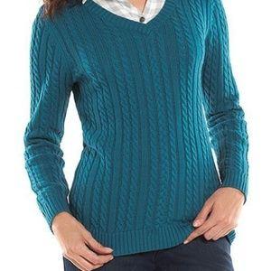 Croft & Barrow Cable Knit Sweater. Sz L